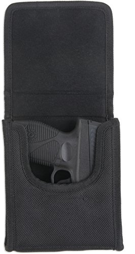 Bulldog Cases 'Vertical' Cell Phone Holster with Belt Loop and Clip fits sub-compact 'vertical' .380 auto's (Sig P238) in Black Nylon