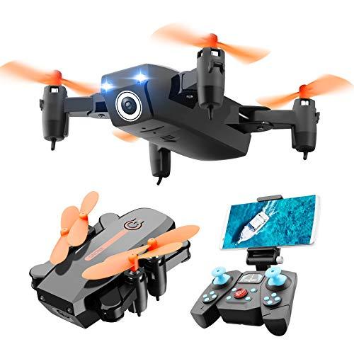 ERKEJI Droni gravit Sensing Telecomando Mini Quadcopter Aereo Giocattolo 720 P / 1080 P FPV 110  grandangolo 90  Telecamera Regolabile VR (Occhiali Regalo)