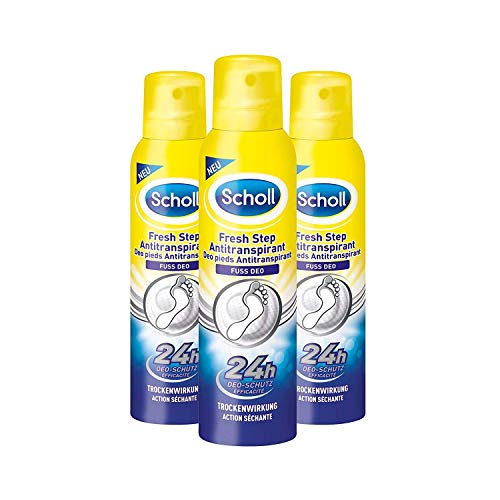 Scholl Fresh Step Antitranspirant Fußspray, 3er Pack (3 x 150 ml)