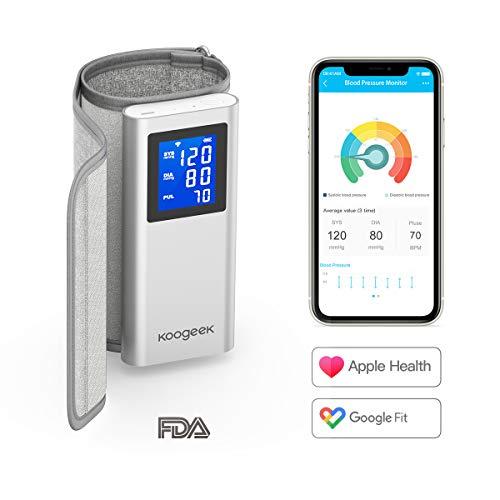 Koogeek Misuratore Pressione da Braccio Bluetooth/WIFI, Sfigmomanometro Digitale, Certificazione FDA...
