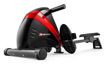 Hop-Sport Rameur HS-030R Boost Machine à Ramer équipée de l'ordinateur Rouge/Noir