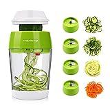 MENNYO Coupe Légumes Spirale avec Boîte, 4 en 1 Spiraliseur de...