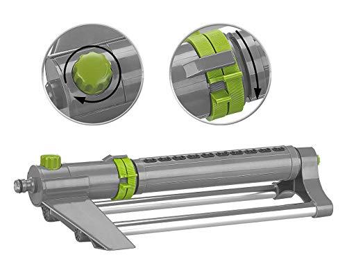 Royal Gardineer Rechteckregner: Oszillierender Viereckregner mit Schmutzsieb, bis 300 m² bei 4 bar (Bewässerungsregner)