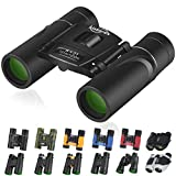 Kissarex Adults Compact Travel Binoculars: 8x21 Mini Small Size Lightweight Best Outdoor Theatre Tactical Hiking Kids Concert Sports Camping Low-Light Night Vision Waterproof