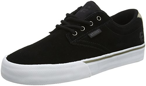 Etnies Men's Jameson Vulc Skate Shoe, Black/White/Silver, 11 Medium US