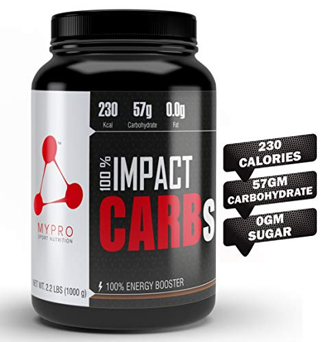 Mypro Sport Nutrition Carb Powder Supplement | 2X Faster Muscle Fuel | Pre Workout & Post Workout | Carbohydrate Powder for Recovery, Endurance, Gain Muscle Mass (1000 Gm- 2.2LBS (33 Scoops))