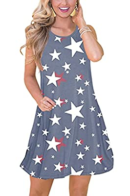 PATRIOTIC LOOK - This Gorgeous Floral Dress is Such A Must-have for The New Season! From The Vibrant Colors to The Flowy Feel, It is Sure to Be Your New Spring and Summer Favorite! SIZE INFORTMATION - S US (4-6), M US (8-10), L US (12-14), XL US (16-...