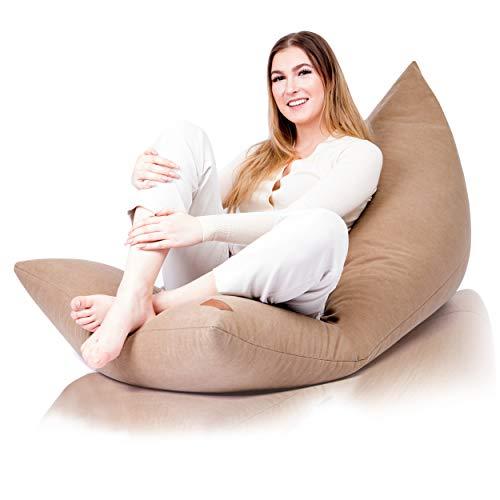 Aiire Bean Bag Chair XXL - Pouf gigante senza imbottitura per decorazione della camera da letto, pouf per bambini, cuscini da pavimento grandi