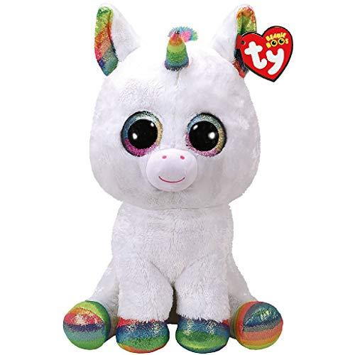 TY - Beanie Boo's Pixy, peluche unicornio, color blanco, 40 cm (United Labels Ibérica 36859TY)