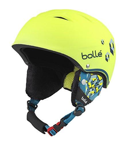 boll B-Free, Casco da Sci Unisex Bambino, Soft Neon/Yellow Blocks, 53-57 cm