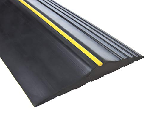 Universal 10ft Garage Door Seal Bottom Threshold Seal, DIY Rubber Weather Stripping Replacement Easy Installation, [Not Include Sealant/Adhesive] (10ft, Black)