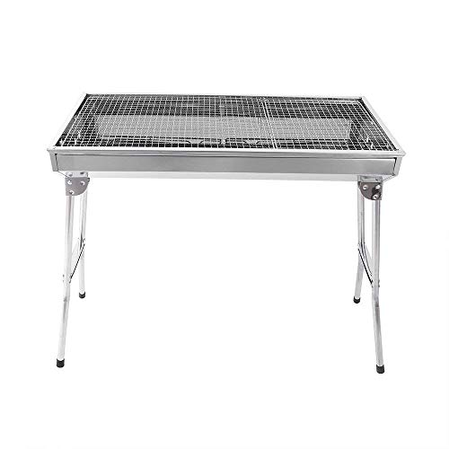 credsy Folding Barbecue Grill Portable Big Size Stainless Steel Barbecue Grill Charcoal - Outdoor...