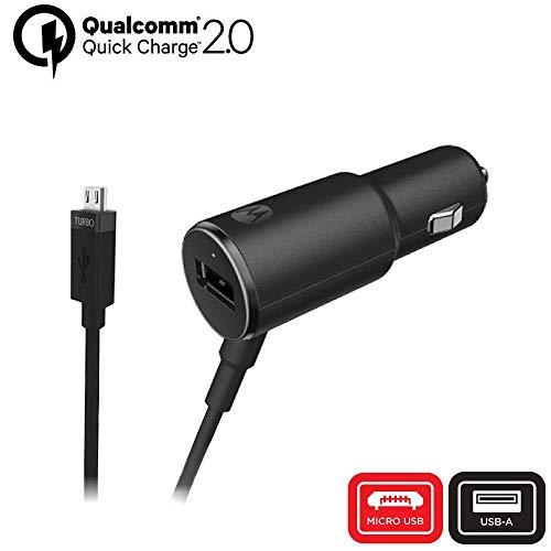 Motorola Caricabatterie da Auto TurboPower 25 QC2.0 Micro-USB con ulteriore Porta USB-A per i dispositivi Micro-USB Moto G3/G4/G5/G5S (Confezione per la Vendita al Dettaglio)