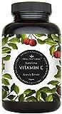 Acerola Kapseln - Natürliches Vitamin C - 180 vegane Kapseln im 6 Monatsvorrat - Ohne unerwünschte Zusätze - Laborgeprüft, vegan und in Deutschland produziert
