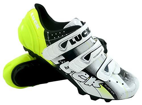 Luck Extreme 3.0 MTB Zapatillas de Ciclismo, Adultos Unisex, Amarillo, 43 EU