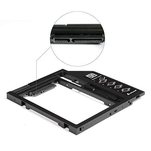 Salcar - 2.HDD/SSD SATA (2nd HDD Hard Drive Caddy Plastica) Telaio per Dischi Rigidi con Interfaccia...