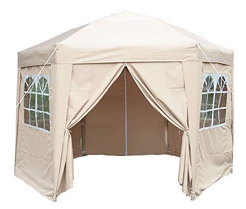 Airwave Pop-Up-Pavillon, 3,5 m, sechseckig, beige