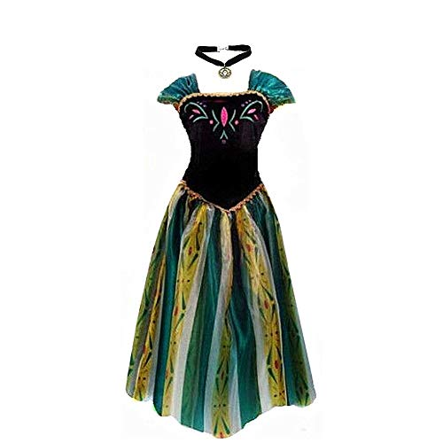kuisen Princess Costume Ault Women Coronation Dress Costume (XL Size fit for US 12-14) Green