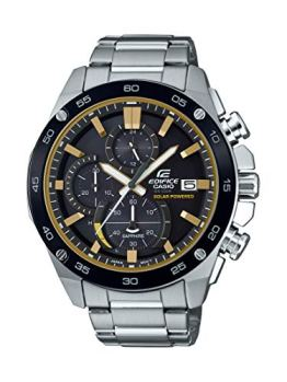 Casio Men's Edifice Quartz Watch with Stainless-Steel Strap, Silver, 21.6 (Model: EFS-S500DB-1BVCR)
