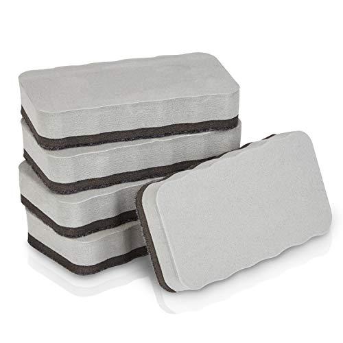 WINTEX Set da 5 Cancellini per lavagna magnetici, adatti a whiteboard, lavagne, flipchart e...