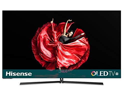 "Hisense H55O8B - Smart TV OLED 55"" 4K Ultra HD con Alexa Integrada, diseño ultra delgado, HDR Dolby Vision, Audio Dolby Atmos, Ultra Dimming, Smart TV VIDAA U 3.0 con IA, mando con micrófono"