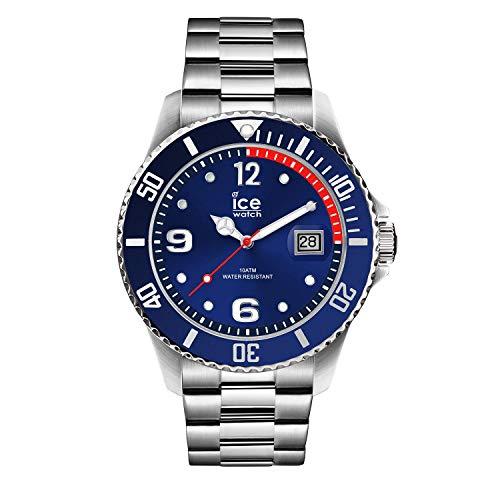Ice-Watch - Ice Steel Blue Silver - Blau Herrenuhr mit Metallarmband - 015771 (Medium)