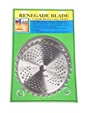 Renegade Blade 2pk- 8'-32t/80t - Combo 2 Blade Pack - (1) Brush & Brambles & (1) Multi-Use Brush Specialty GS1 Barcoded Shelf Hanging Blister Pack- Carbide Brush Cutter Blades, 203mm Dia.