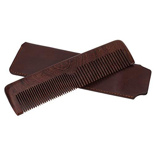 Barba Grooming Pettine per lo styling Pettine per barba da salone Pettine per capelli in legno di sandalo nero Modello per modellare la barba(02)