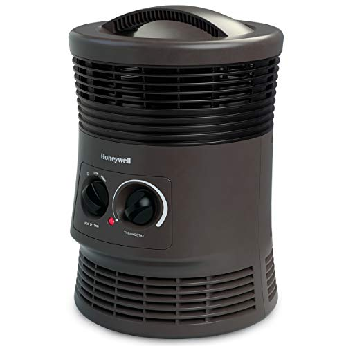 Honeywell 360 Degree Surround Heater with Fan Forced Technology – Space Heater with Surround Heat Output and Two Heat Settings – Energy Efficient Portable Heater