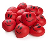 Neliblu Heart Stress Balls - Valentines Day Red Hearts 3' Smile Face...