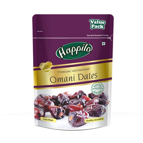 Happilo Premium International Omani Dates Value Pack Pouch, 680 g