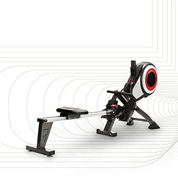 SportPlus rameur Air - 8 niveaux de résistance - pliable, roulettes de tranport -idéal pour la maison - jusqu'à 150 kg - sécurité testée - SP-MR-010