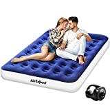 AirExpect Air Mattress Camping AirBed Queen Size Leak Proof Inflatable Mattress with Rechargeable Electric Pump Built-in Pillow for Guest,Camping,Hiking, Height 9', 2-Year Warranty, Storage Bag