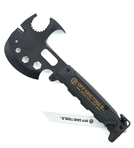 Off Grid Tools Survival Axe Ultimate Outdoor Multitool-Hatchet...