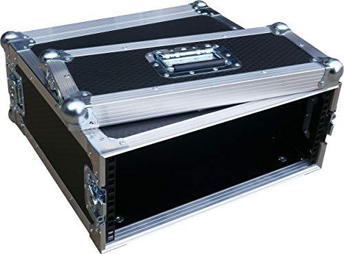 """4U 2 Door 19"""" Rack Mount PC Amp Swan Flight Case 300mm Sleeve (Hex)"""