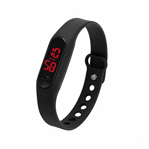Demiawaking, orologio sportivo digitale con cinturino, in silicone, unisex, per bambino, ragazzo,...