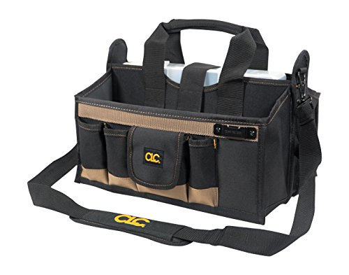 CLC Custom LeatherCraft 1529 16 In. Center Tray Tool Bag, 16 Pocket