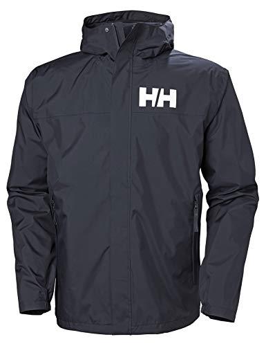 Helly Hansen Herren Active 2 wasserdichte Kapuzenjacke, Navy, L