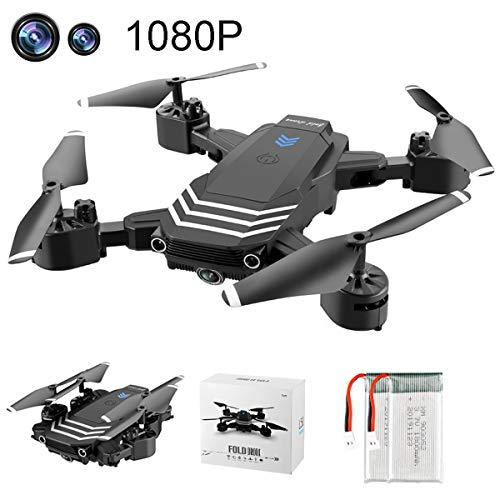 APJS Drone Telecamera 1080P Video Live Droni con Grandangolare Camera HD WiFi FPV Quadricottero 4CH 6 Axis Gyro RC Drones Acrobazia RTF modalit Senza Testa Altitude Hold Quadcopter,C