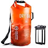OutdoorMaster Dry Bag - Waterproof, Lightweight Dry Sack for The Beach, Boating, Fishing, Kayaking,...