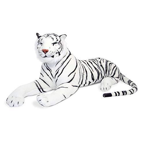 Melissa & Doug- Tigre Gigante Peluche, Colore Bianco e Nero, 13979
