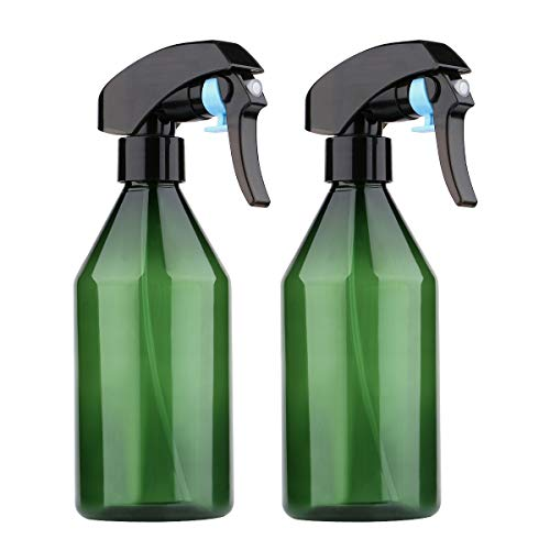 Yebeauty Plant Mister Spray Bottle, 2Pcs 10oz Fine Mist Plant Atomizer Watering Sprayer Bottle for Gardening Cleaning Solution with Top Pump Trigger Water, Green