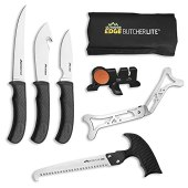 Outdoor Edge Butcher Lite, BL-1, Home or Field 8-Piece Game Processing Butcher Knife Set with Roll Pack