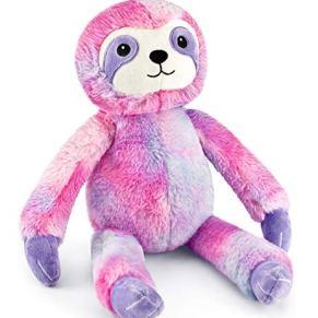 Mousehouse Gifts - Oso perezoso de peluche de color rosa y morado - Para niños y niñas - 40cm