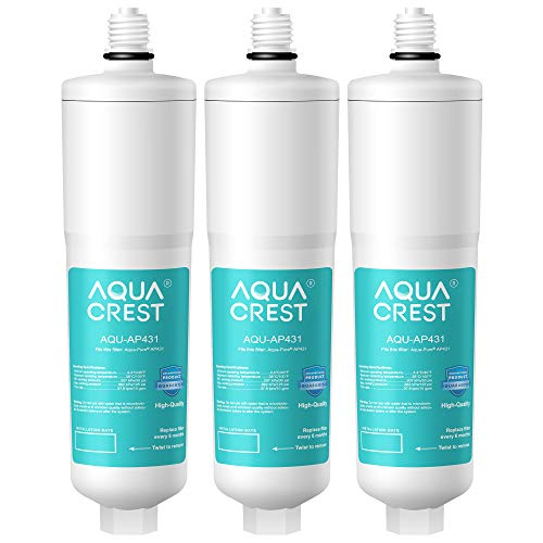 AQUACREST AP431 Cartridge, Compatible with Aqua-Pure Whole House Scale Inhibition Inline Water System AP430SS, Helps Prevent Scale Build Up On Hot Water Heaters and Boilers (Pack of 3)