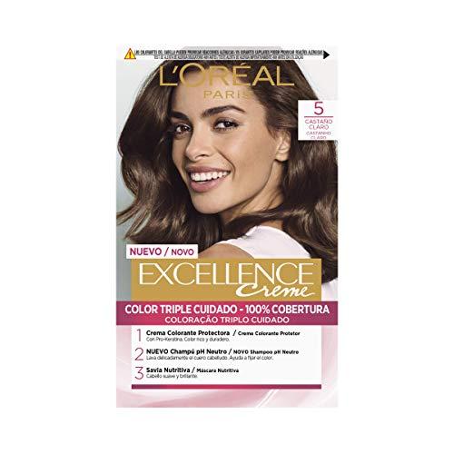 L'Oréal Coloración Excellence Crème Triple Protección 5 Castaño Claro - 200 gr