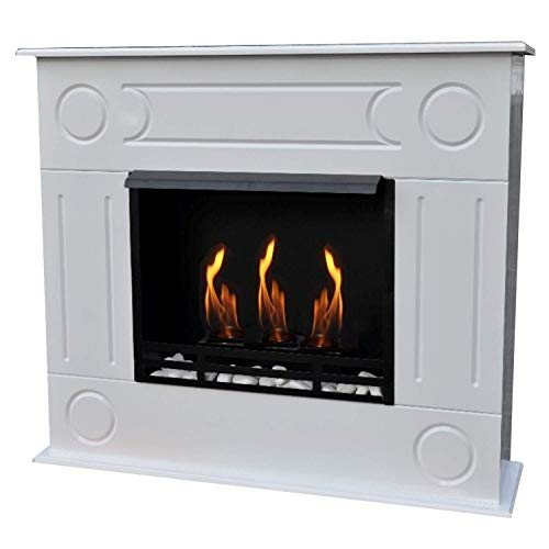 Bio Ethanol Firegel Fireplace Fire Place Model Dion Premium XXL White