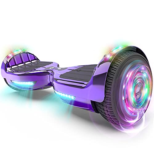 HOVERSTAR Hoverboard All New Version-HS2.0, Chrome Color & Coating Skins Two Wheels Self-Balancing Scooter with Wireless Speaker Playing Music & Led Wheels Flashing Lights