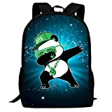 Lawenp Dabbing Panda Kids School Mochila Bolsa de Viaje Ligera para niños Estudiantes