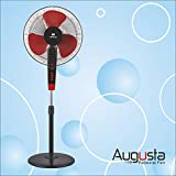Havells Augusta 400 MM Pedestal Fan ( Black and Red) with Timer
